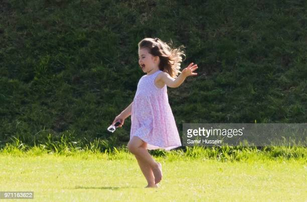 Princess Charlotte of Cambridge attends the Maserati Royal Charity Polo Trophy at Beaufort Park on June 10 2018 in Gloucester England