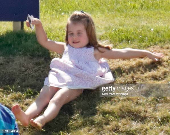 Princess Charlotte of Cambridge attends the Maserati Royal Charity Polo Trophy at the Beaufort Polo Club on June 10 2018 in Gloucester England