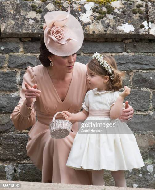 Princess Charlotte of Cambridge bridesmaid and Catherine Duchess of Cambridge attend for the wedding Of Pippa Middleton and James Matthews as a page...