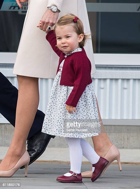 Princess Charlotte of Cambridge depart Victoria on October 1 2016 in Victoria Canada
