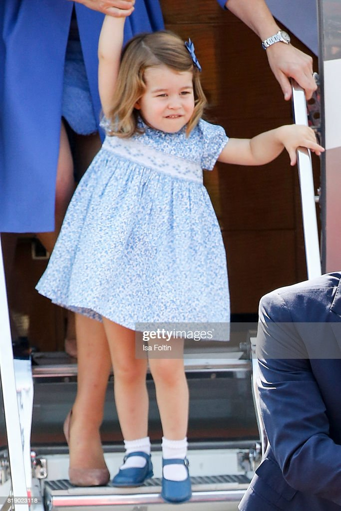 Princess Charlotte of Cambridge during an official visit to Poland and Germany on July 19, 2017 in Berlin, Germany.