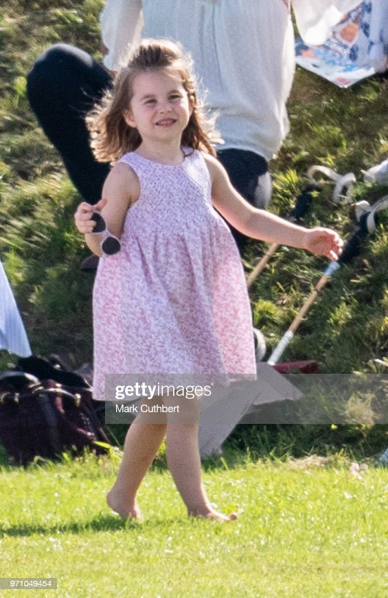 Princess Charlotte of Cambridge during the Maserati Royal Charity Polo Trophy at Beaufort Park on June 10, 2018 in Gloucester, England.