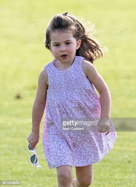 Princess Charlotte of Cambridge during the Maserati Royal Charity Polo Trophy at Beaufort Park on June 10 2018 in Gloucester England