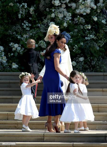 Princess Charlotte of Cambridge Prince George of Cambridge Catherine Duchess of Cambridge Jessica Mulroney Ivy Mulroney and Florence van Cutsem after...