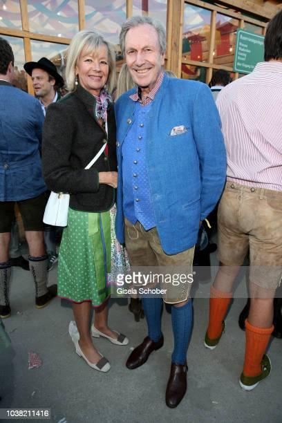 Princess Charlotte von Bismarck and her partner Reinhard von der Becke, CEO Lux International and Forbes Lux Group during the Oktoberfest 2018...