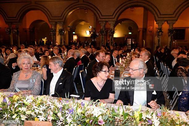 Princess Christina Mrs Magnuson and Tord Magnuson attend the Nobel Prize Banquet after the 2013 Nobel Prize Awards Ceremony at City Hall on December...