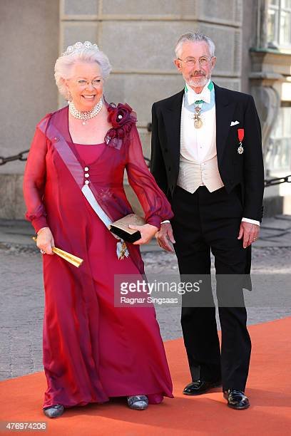 Princess Christina Mrs Magnuson and Tord Magnuson attend the royal wedding of Prince Carl Philip of Sweden and Sofia Hellqvist at The Royal Palace on...