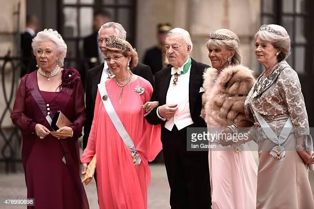 Princess Christina Mrs Magnuson guest guest Princess Birgitta of Sweden and Princess Margaretha Mrs Ambler attend the royal wedding of Prince Carl...