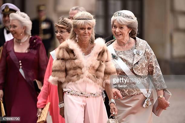 Princess Christina Mrs Magnuson guest Princess Birgitta of Sweden and Princess Margaretha Mrs Ambler attend the royal wedding of Prince Carl Philip...