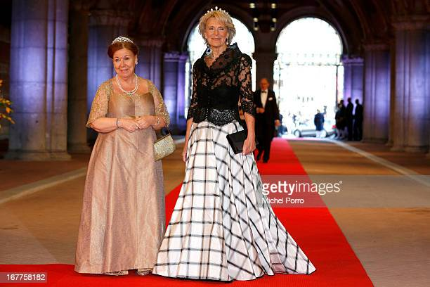 Princess Christina of Netherlands and Princess Irene of the Netherlands attend a dinner hosted by Queen Beatrix of The Netherlands ahead of her...