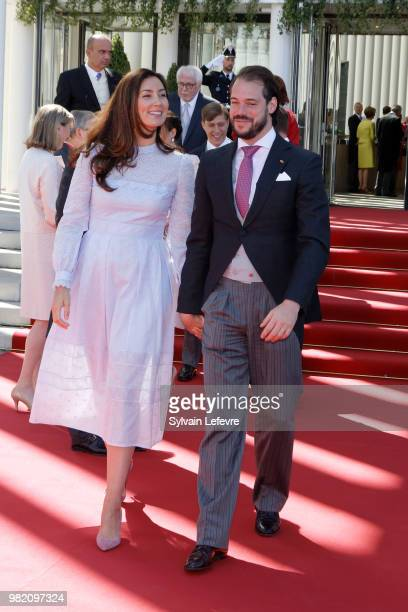 Princess Claire and Prince Felix of Luxembourg attend official reception at Luxembourg Philarmonie hall for National Day on June 23 2018 in...