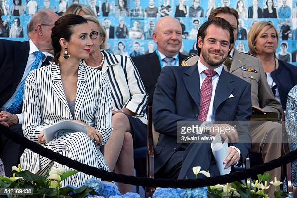 Princess Claire and Prince Felix of Luxembourg celebrate National Day on June 21 2016 in Luxembourg Luxembourg