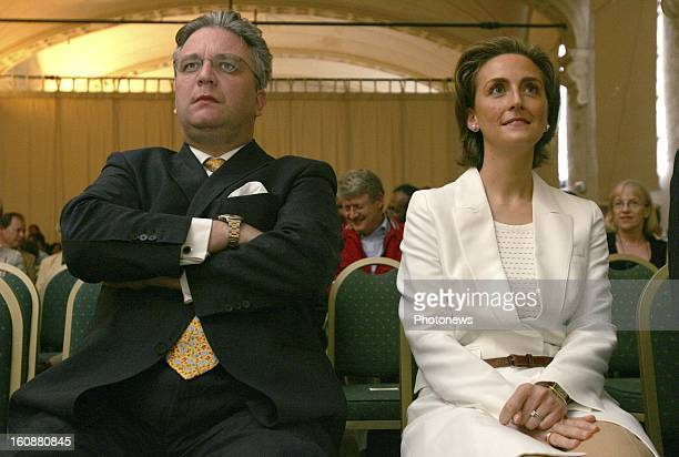 Princess Claire of Belgium and Prince Laurent of Belgium attend the opening of the Congres of the International Society for Twin Studies on June 8...