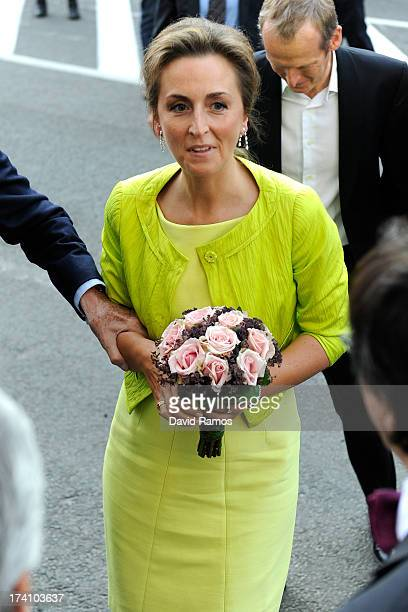 Princess Claire of Belgium attends the concert held ahead of Belgium abdication & coronation on July 20, 2013 in Brussels, Belgium.