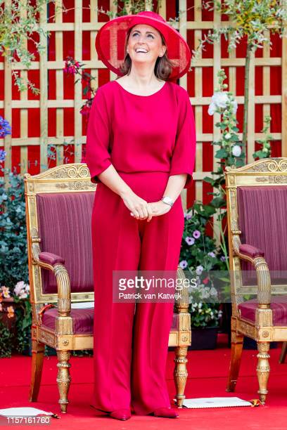 Princess Claire of Belgium attends the military parade during Belgian National Day on July 21 2019 in Brussels Belgium