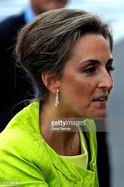 Princess Claire of Belgium departs the concert held ahead of Belgium abdication coronation on July 20 2013 in Brussels Belgium