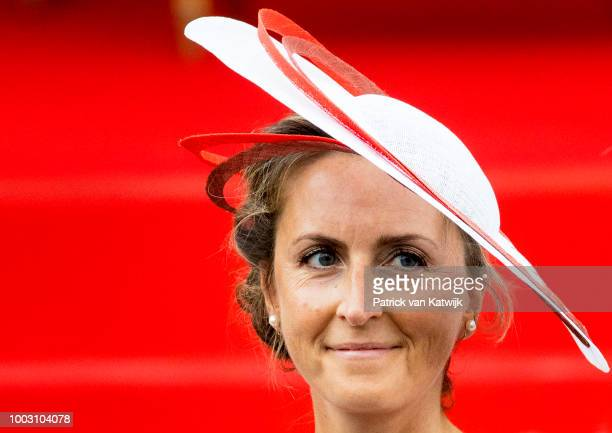 Princess Claire of Belgium during the military parade at the National Day on July 21 2018 in Brussels Belgium