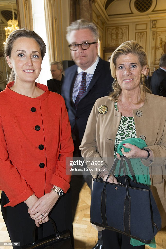 Princess Claire of Belgium, Prince Laurent of Belgium and Princess Lea of Belgium attend an award giving ceremony for French journalist and author Stephane Bern at Palais d'Egmont on March 7, 2013 in Brussels, Belgium.