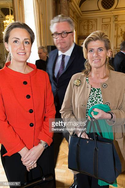 Princess Claire of Belgium, Prince Laurent of Belgium and Princess Lea of Belgium attend an award giving ceremony for French journalist and author...