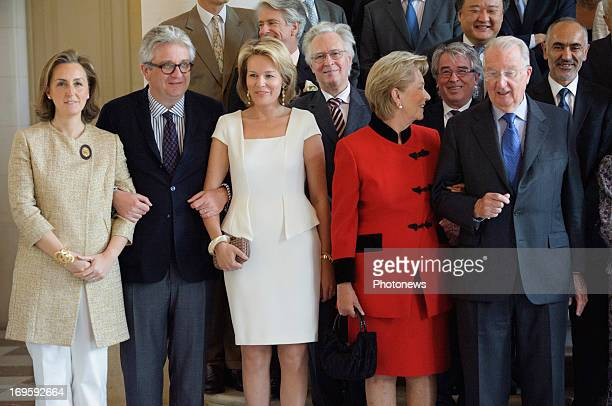 Princess Claire of Belgium Prince Laurent of Belgium and Princess Mathilde of Belgium King Albert of Belgium and Queen Paola of Belgium attend a...