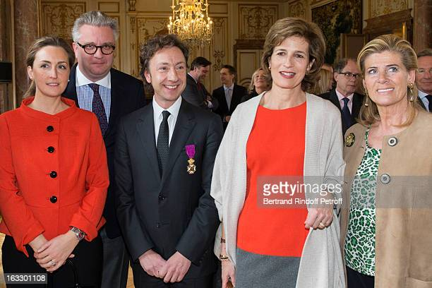 Princess Claire of Belgium Prince Laurent of Belgium French journalist and author Stephane Bern Princess Esmeralda of Belgium and Princess Lea of...