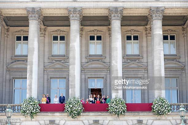 Princess Claire of Belgium Prince Laurent of Belgium Princess Astrid of Belgium Prince Lorenz of Belgium Queen Fabiola of Belgium Princess Eleonore...