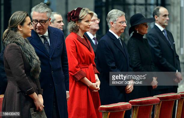 Princess Claire of Belgium Prince Laurent of Belgium Princess Mathilde of Belgium Crown Prince Philippe of Belgium Princess Astrid of Belgium and...