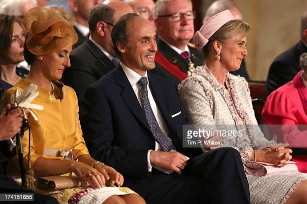 Princess Claire of Belgium Prince Lorenz of Belgium and Princess Astrid of Belgium seen during the Abdication Of King Albert II Of Belgium...