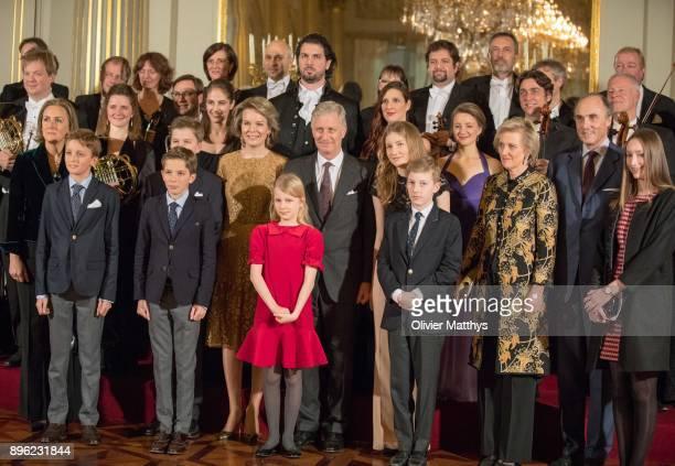 Princess Claire of Belgium Prince Nicolas of Belgium Prince Gabriel of Belgium Prince Aymeric of Belgium Queen Mathilde of Belgium Princess Elonore...