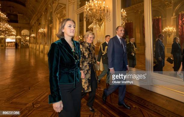 Princess Claire of Belgium, Princess Astrid of Belgium and Prince Lorenz of Belgium attend the Christmas Concert at the Royal Palace, on December 20,...