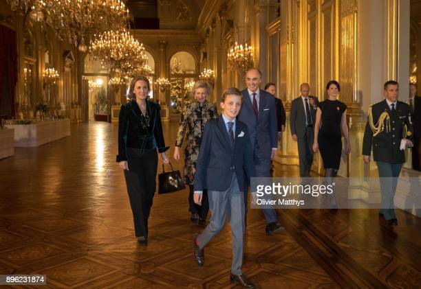 Princess Claire of Belgium Princess Astrid of Belgium Prince Lorenz of Belgium and Prince Nicolas of Belgium attend the Christmas Concert at the...