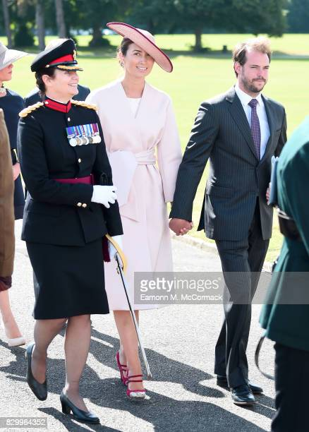 Princess Claire of Luxembourg and Prince Felix of Luxembourg attend the Sovereign's Parade at the Royal Military Academy Sandhurst on August 11 2017...