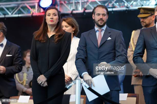 Princess Claire of Luxembourg and Prince Felix of Luxembourg celebrate National Day on June 22 2018 in Luxembourg Luxembourg