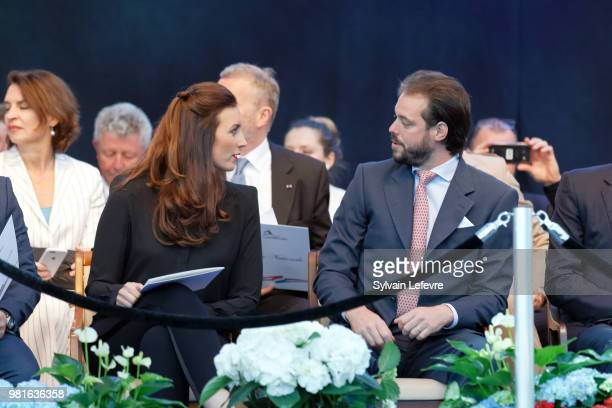 Princess Claire of Luxembourg and Prince Felix of Luxembourg on June 22 2018 in Luxembourg Luxembourg