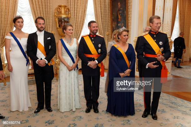 Princess Claire of Luxembourg and Prince Felix of Luxembourg Princess Stephanie Prince Guillaume of Luxembourg Grand Duchess Maria Teresa of...