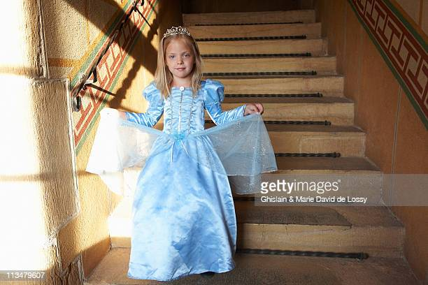 princess climbing down the stairs - princess stock pictures, royalty-free photos & images