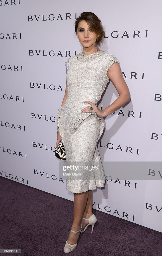 Princess Clotilde Courau, wearing BVLGARI, arrives at the BVLGARI celebration of Elizabeth Taylor's collection of BVLGARI jewelry at BVLGARI Beverly Hills on February 19, 2013 in Los Angeles, California.