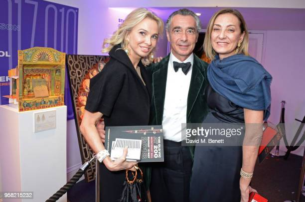 Princess Corinna zu Sayn-Wittgenstein, guest and Maria Cristina Buccellati attend The Old Vic Bicentenary Ball to celebrate the theatre's 200th...