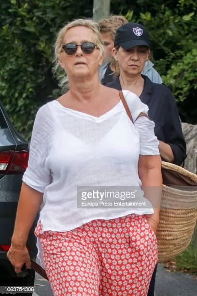 Princess Cristina and Ana Urdangarin are seen on August 9 2018 in Bidart France