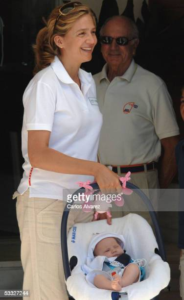 Princess Cristina and her baby daughter Princess Irene of Spain attend the 24th Copa del Rey Sailing Trophy on August 5 2005 in Mallorca Spain