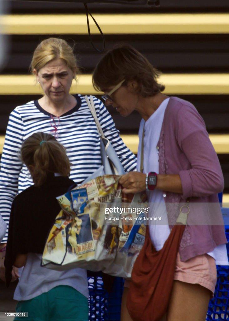 Princess Cristina Sighting In Bidart - August 21, 2018