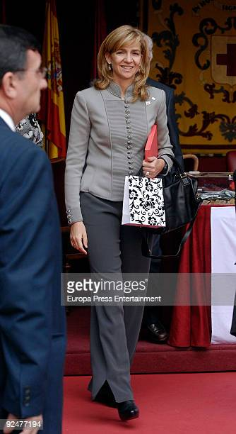 Princess Cristina attends the 2009 Red Cross fundraising campaign on October 28 2009 in Madrid Spain