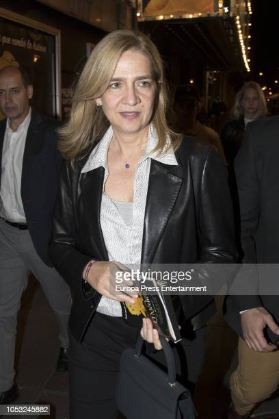 Princess Cristina attends 'The Physician' the musical based on Noah Gordon novel on October 24 2018 in Madrid Spain
