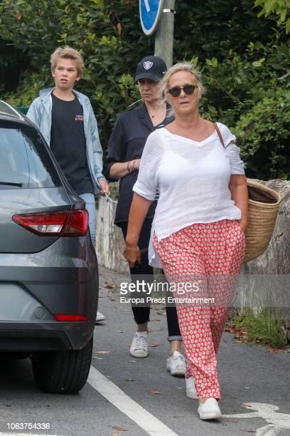 Princess Cristina Miguel Urdangarin and Ana Urdangarin are seen on August 9 2018 in Bidart France