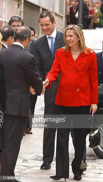 Princess Cristina of Spain and husband Inaki Urdangarin with guests