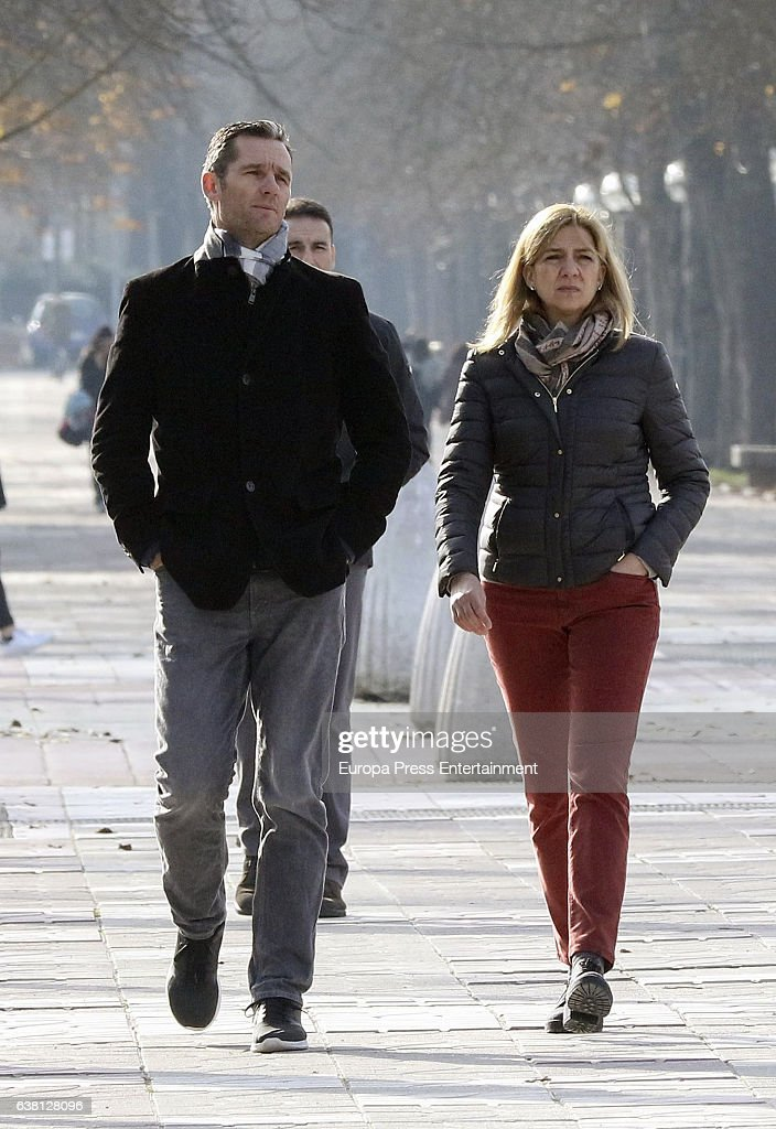 Princess Cristina of Spain and Inaki Urdangarin are seen on December 27, 2016 in Vitoria-Gasteiz, Spain.