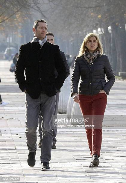 Princess Cristina of Spain and Inaki Urdangarin are seen on December 27 2016 in VitoriaGasteiz Spain