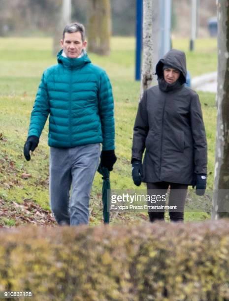 Princess Cristina of Spain and Inaki Urdangarin are seen on December 27 2017 in VitoriaGasteiz Spain