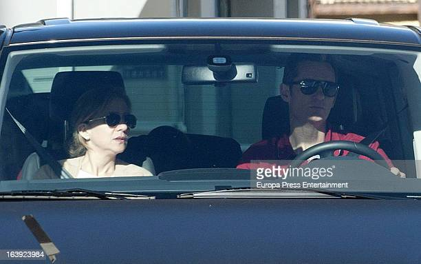 Princess Cristina of Spain and Inaki Urdangarin are seen on February 17 2013 in Baqueira Beret Spain