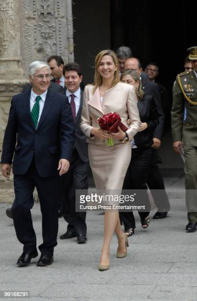 Princess Cristina of Spain and Jose Maria Barreda attend the Red Cross Medal ceremony on May 12 2010 in Toledo Spain